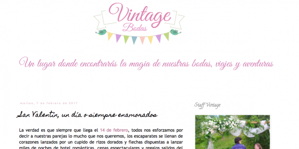 Post en el blog de Vintage Bodas