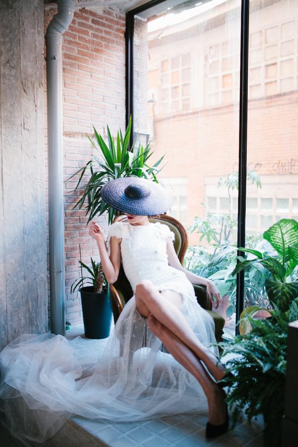 Una novia romántica y urbana